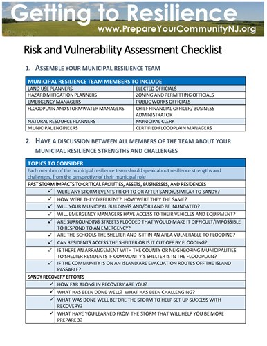 Resilience Checklists